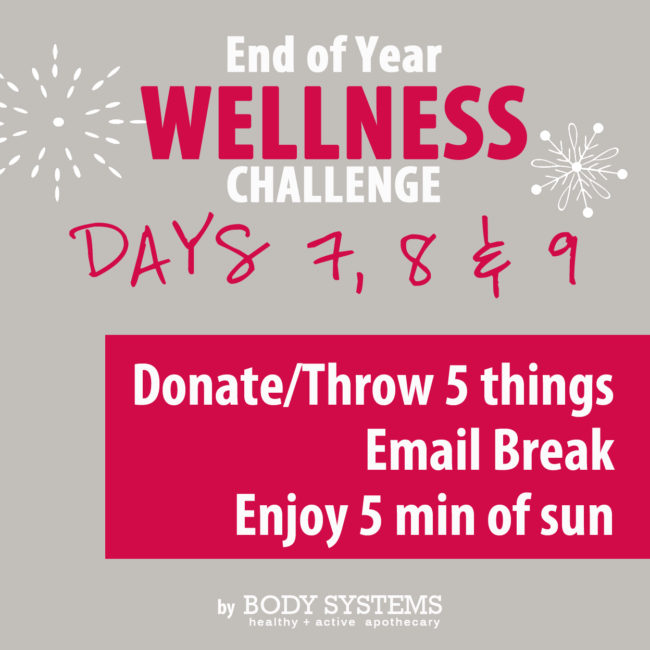 Donate items, Email Break and Enjoy some Sunshine