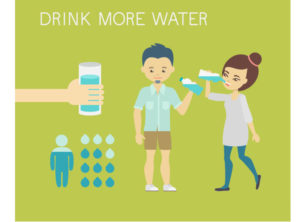 Drink filtered water and aim for half of your body weight converted to ounces.