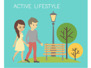 Be active throughout the day PLUS minimum of 30 minutes of actual exercise per day. Balance strength training, cardio and stretching exercises.