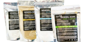Great selection of Mineral Bath Soaks to nourish and let the skin/body recover.