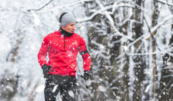 Extra skin care focus during winter workouts