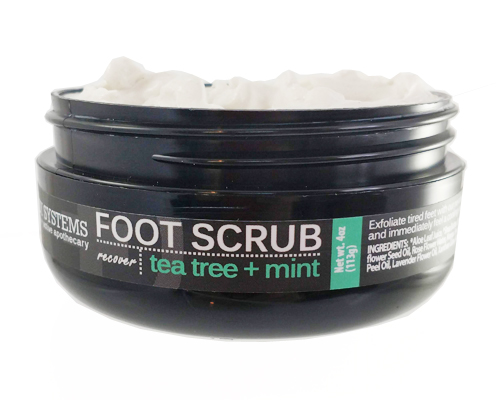 Body Systems Tea Tree + Mint Food Scrub. A dream for your heels.
