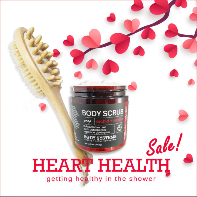 All of our great products for Heart Health in the Shower are on Sale!  Don't miss it.