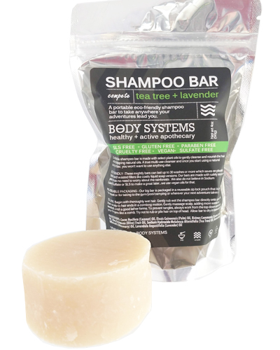 Stop spilled shampoo for ruining your gym bag and nourish your hair with our great Shampoo Bar instead.